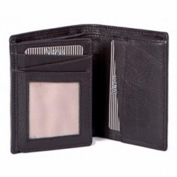 Mala Black Leather Verve Bi Fold Shirt Wallet Style 13026